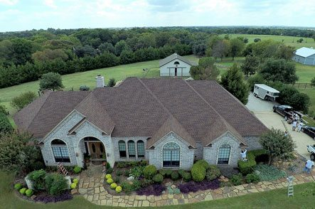 Aerial view of upscale home