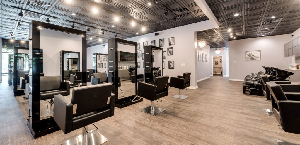Remodeled salon with chairs and mirrors