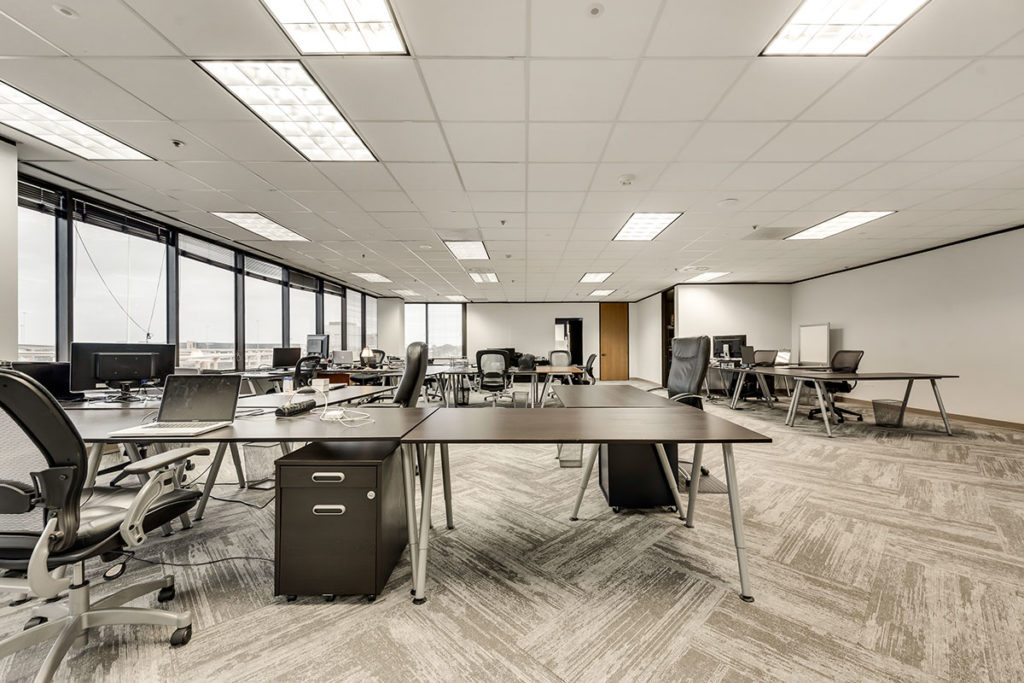 Open office space with several desks