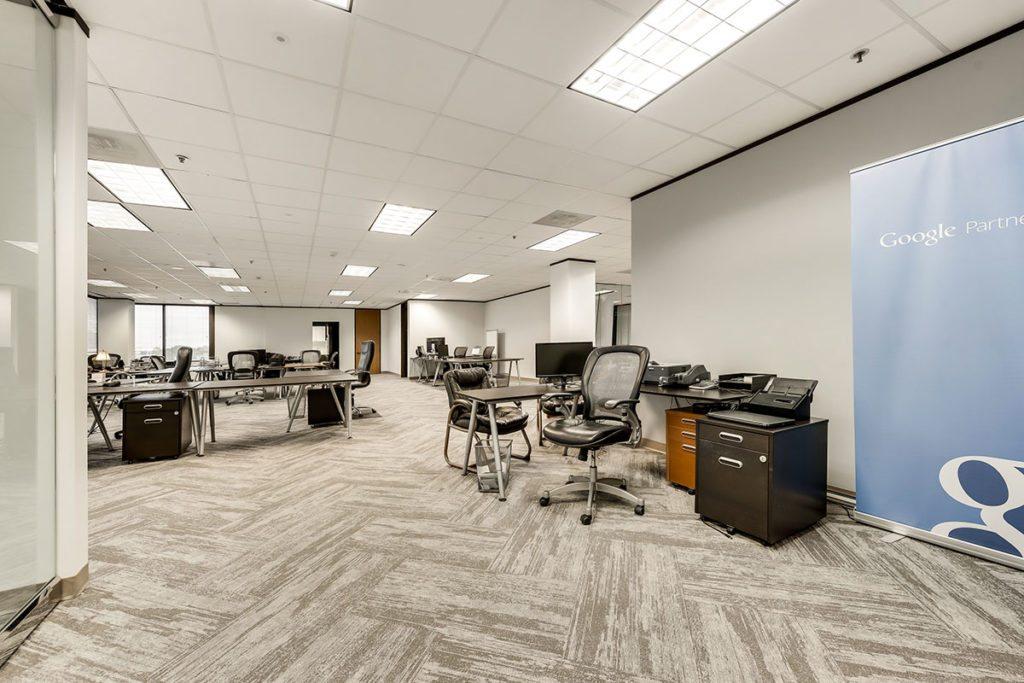 Office space showing google partner banner