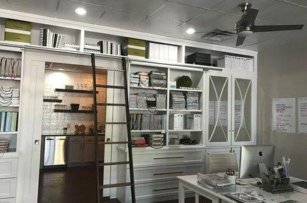 ML Interiors bookshelves