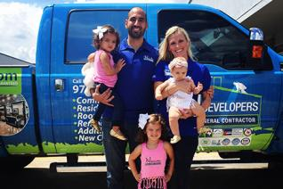 Jorge and his family for their Dallas Roofing Story Article