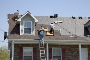 Roofers Replacing Old Roof